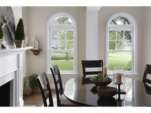 Dining and delightful arched replacement windows