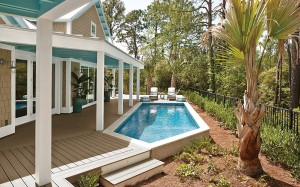 Trex Transcend Deck, Covered Patio and pool