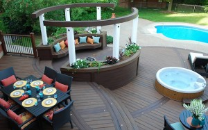 Trex Transcend Spiced Rum Deck and Pergola